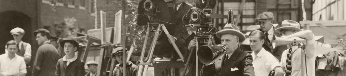 Photo of a vintage film production.